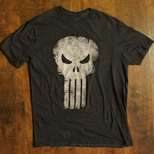 The Punisher Tee Size Large Gray Very Good.